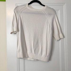 Uniqlo White 1/2 sleeve Sweater